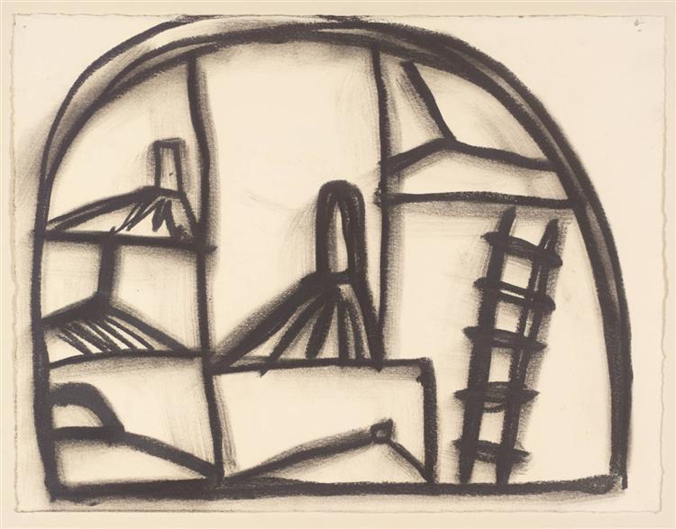 Untitled Drawing, 2000 - Basil Beattie