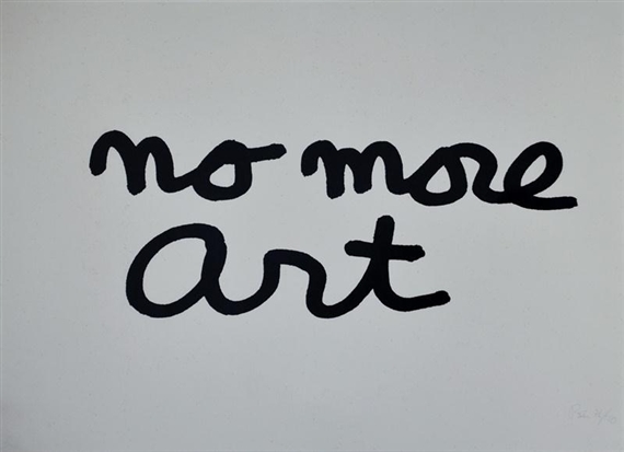 No More Art, 1985 - Ben Vautier