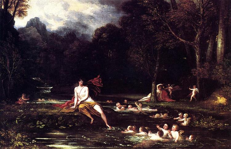Narcissus and Echo, 1805 - Benjamin West