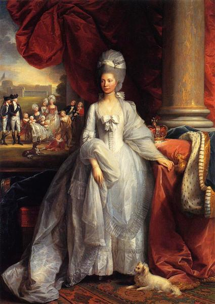 Portrait of Queen Charlotte of the United Kingdom, with ...  Royal