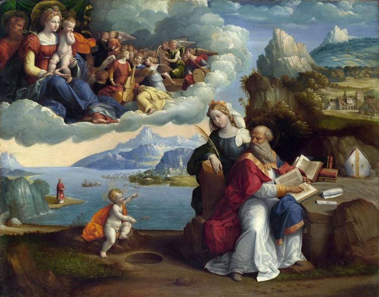 La Visión de San Agustín - Benvenuto Tisi