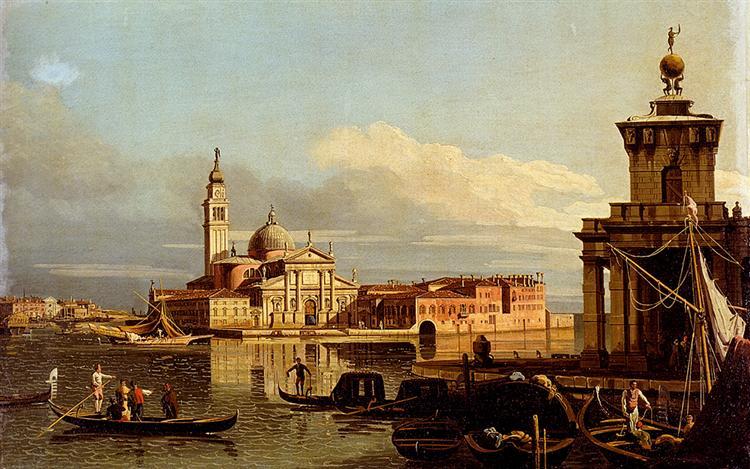 A View In Venice From The Punta Della Dogana Towards San-Giorgio Maggiore - Бернардо Беллотто