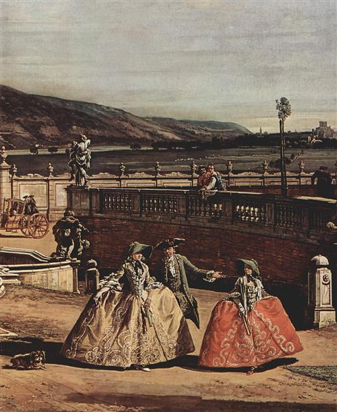 The imperial summer residence, courtyard, 1758 - Bernardo Bellotto