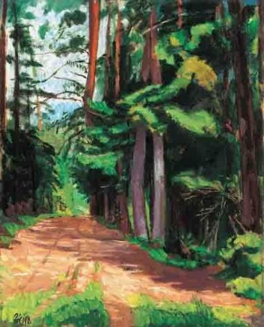 Forest Path, 1911 - Bertalan Por