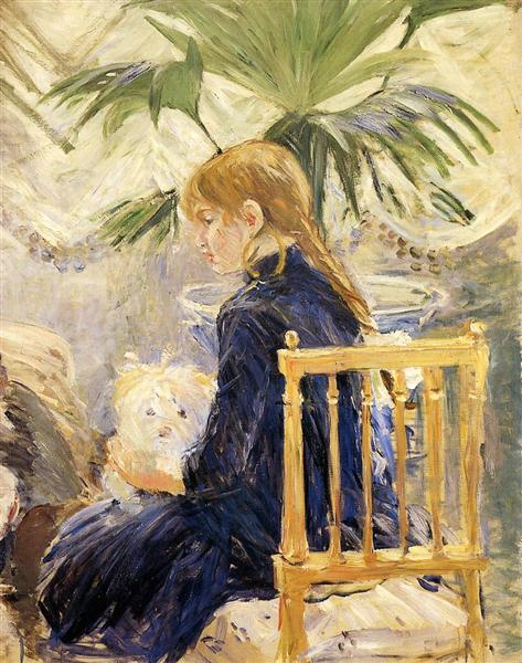 Girl with Dog, 1886 - Berthe Morisot