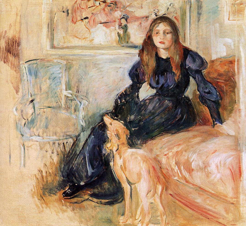 Julie Manet and her Greyhound Laerte, 1893 - Berthe ...