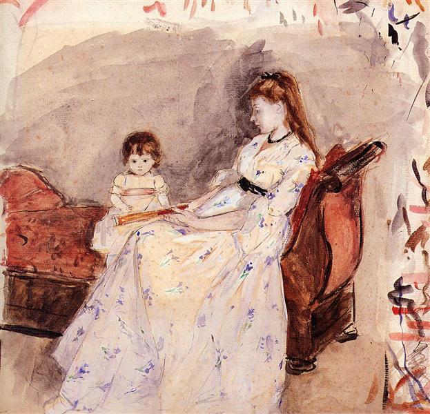 The Artist's Sister Edma with Her Daughter Jeanne, 1872 - Berthe Morisot