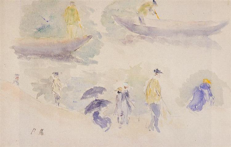The Banks of the Seine, 1894 - Berthe Morisot