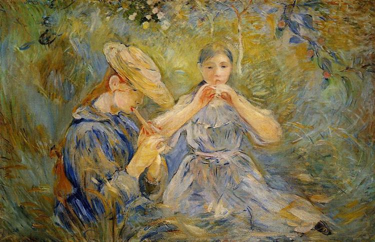 The Flageolet, 1890 - Berthe Morisot