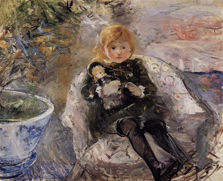 Young Girl with Doll, 1884 - Berthe Morisot