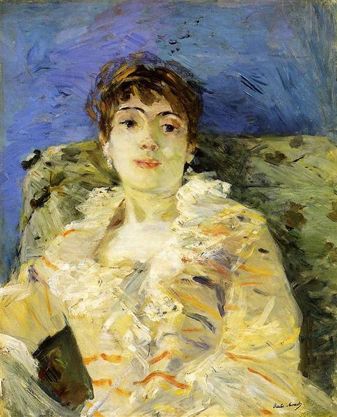 Young Woman on a Couch, 1885 - Berthe Morisot