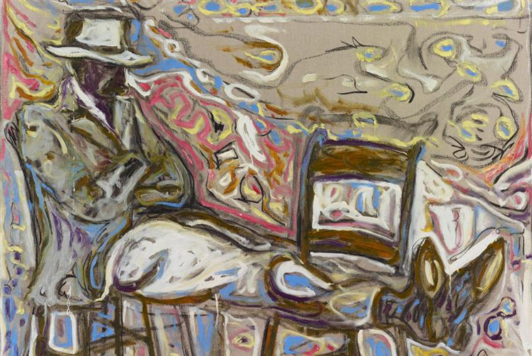 Man Sat on Chairs, 2011 - Billy Childish