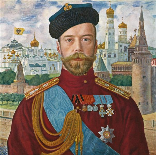 Его императорское величество государь император Николай Александрович Самодержец Всероссийский, 1915 - Борис Кустодиев