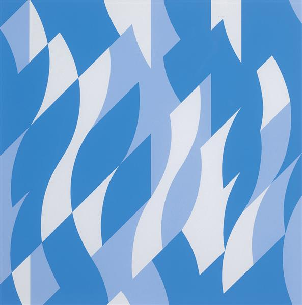 Two Blues, 2003 - Bridget Riley