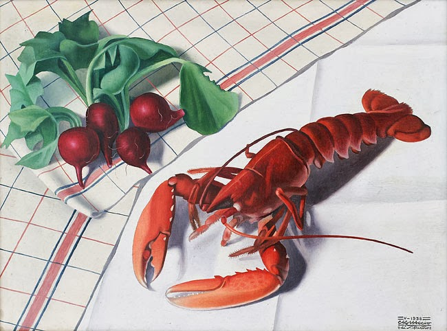 Still-life with Lobster and Radishes, 1938 - Каньяччо ди Сан Пьетро