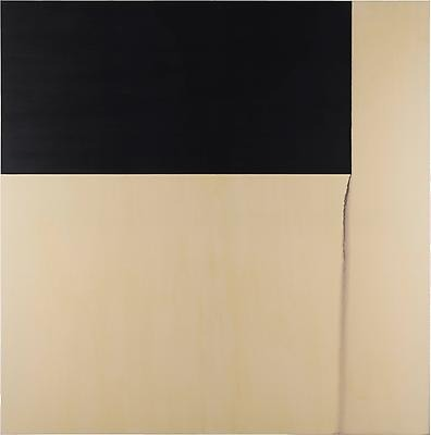 Exposed Painting, Payne's Grey, 1996 - Callum Innes
