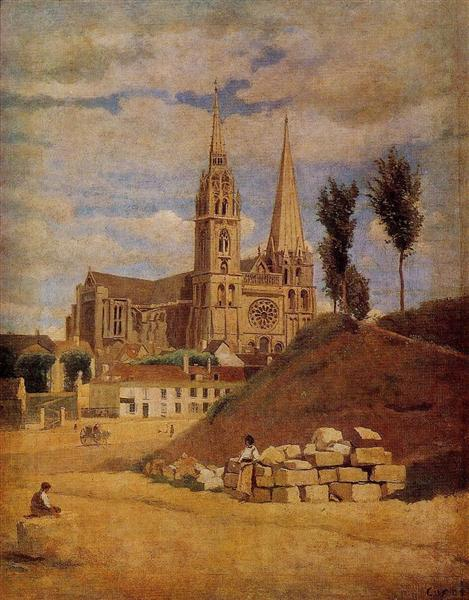 Chartres Cathedral, 1830 - Camille Corot