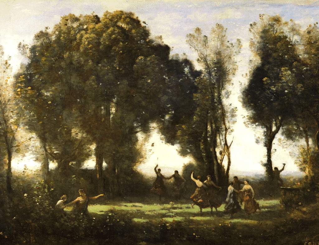 Dance of the nymphs 1850 camille corot for Camille corot