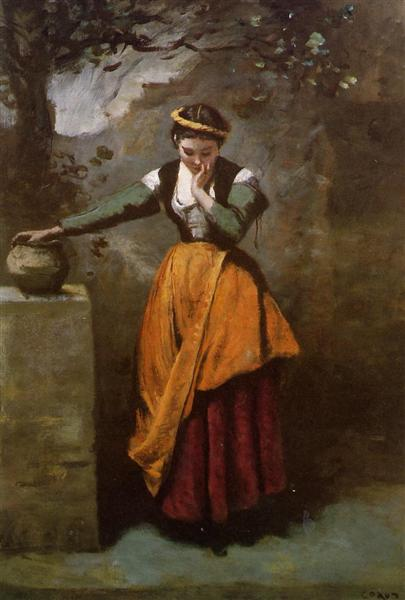 Dreamer at the Fountain, c.1860 - c.1870 - Camille Corot