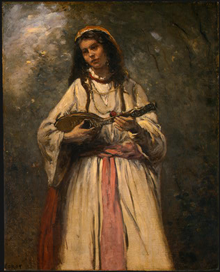 Gypsy Girl with Mandolin, c.1870 - c.1875 - Camille Corot