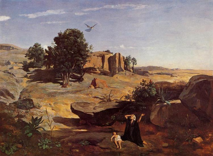 Hagar in the Wilderness - Camille Corot