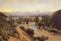 The Augustan Bridge at Narni - Camille Corot