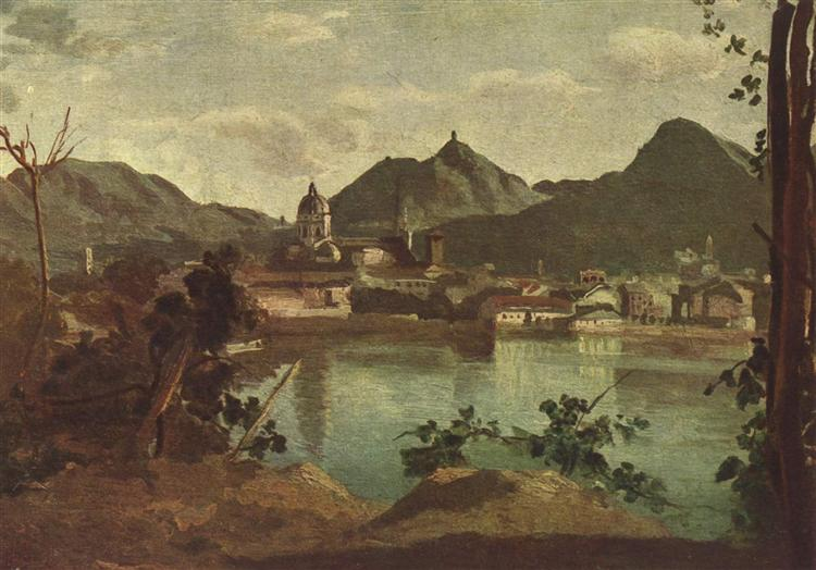 Town and Lake Como, 1834 - Camille Corot