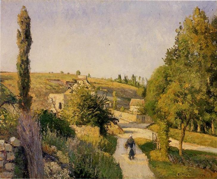 Landscape at l'Hermitage, 1874 - Camille Pissarro