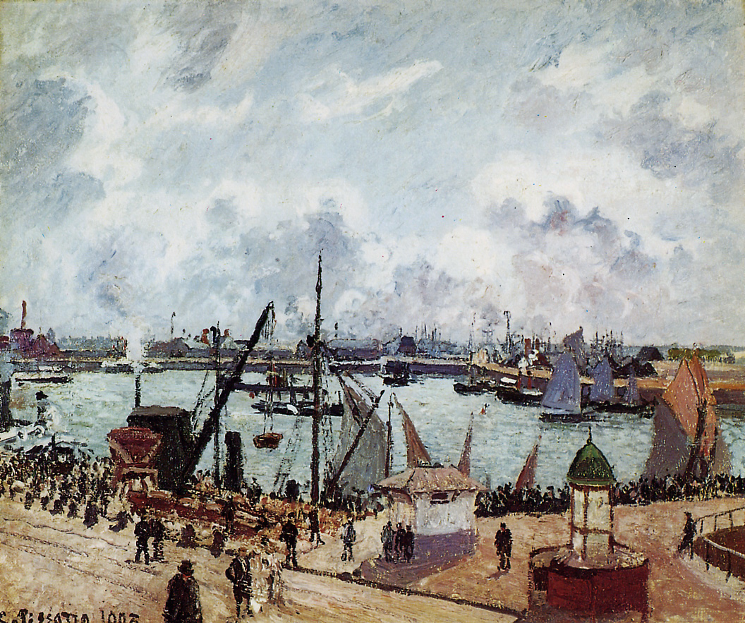 outer harbour of le havre 1903 camille pissarro. Black Bedroom Furniture Sets. Home Design Ideas