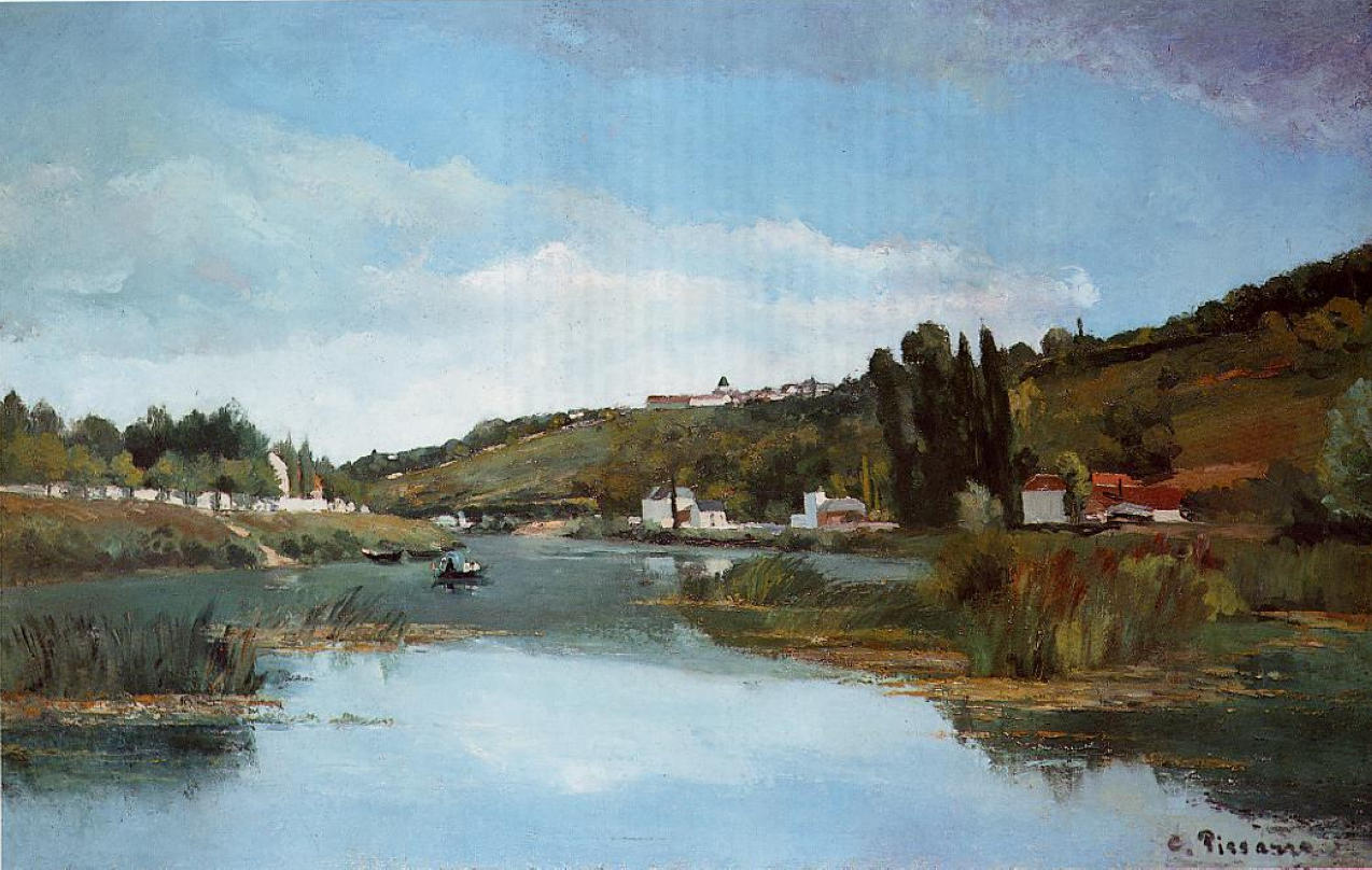 the marne at chennevieres 1864 camille pissarro. Black Bedroom Furniture Sets. Home Design Ideas