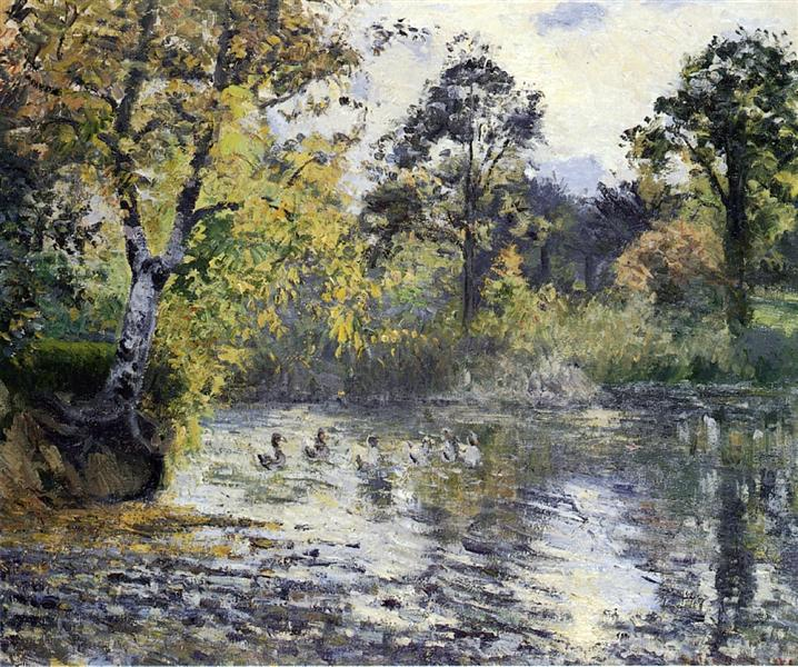 The Pond at Montfoucault, 1874 - Camille Pissarro