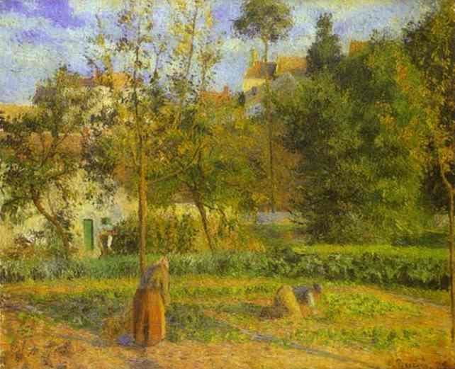 Vegetable Garden at Hermitage near Pontoise, 1879 - Camille Pissarro