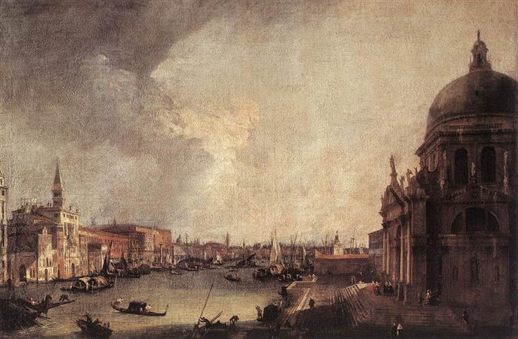 Entrance To The Grand Canal Looking East, 1725 - Canaletto