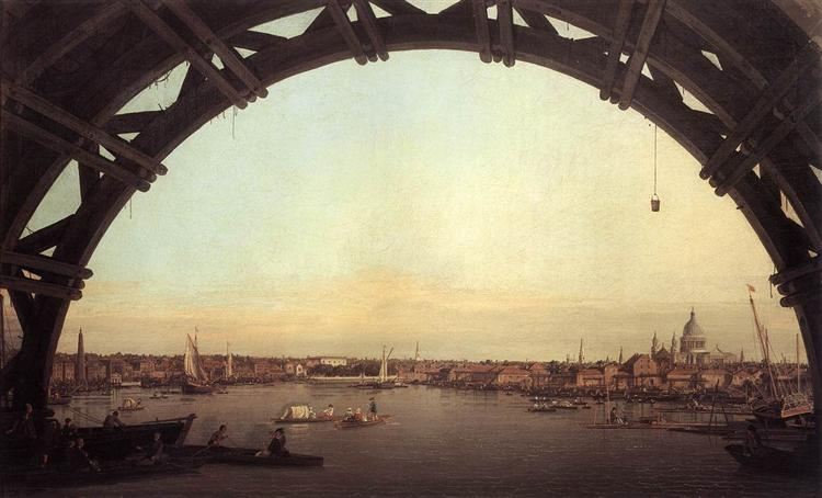 London seen through an arch of Westminster Bridge, 1747 - Canaletto