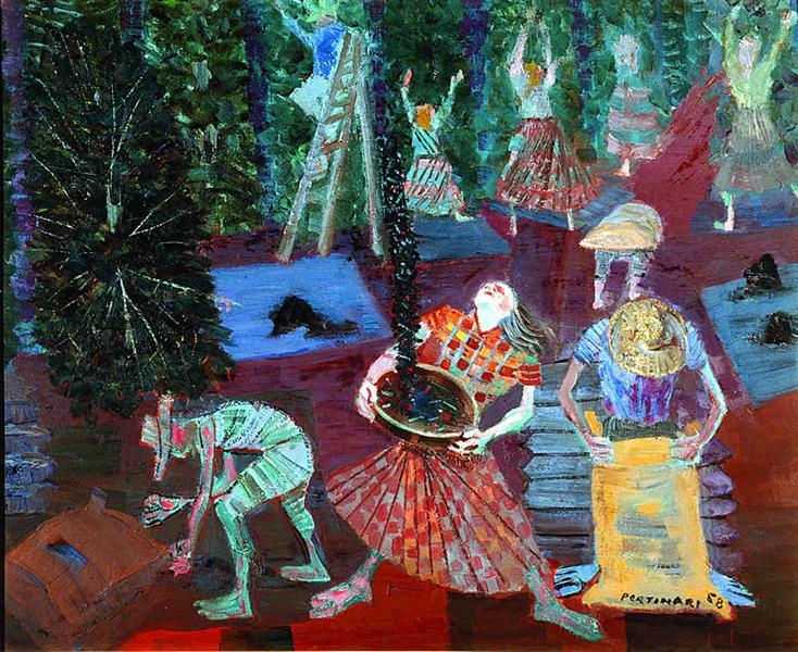 Coffee Harvest, 1958 - Кандіду Портінарі