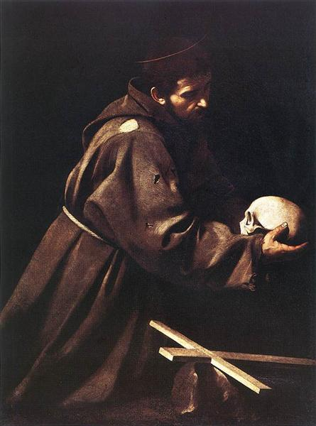 Saint Francis in Prayer, c.1610 - Caravaggio