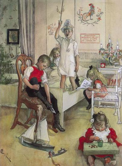 Christmas Morning, 1894 - Карл Ларссон