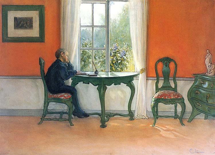 Required Reading, 1900 - Carl Larsson