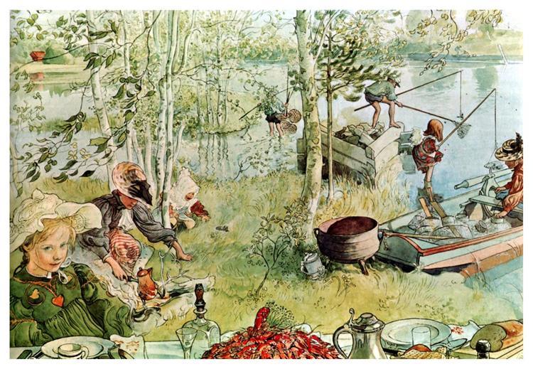 The Crayfish Season Opens, 1897 - Карл Ларссон