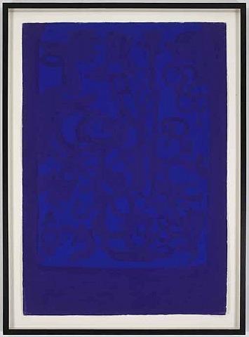 Blue Viola, 1962 - Carla Accardi