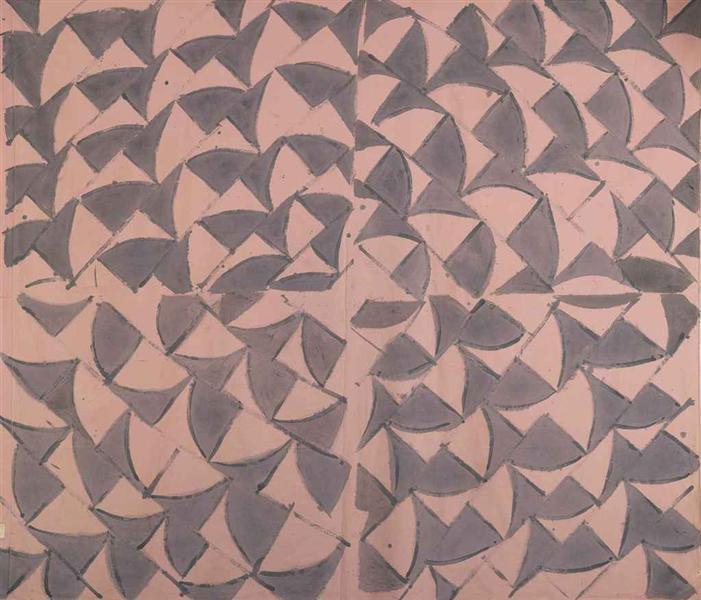 Rosa grigio grande, 1973 - Carla Accardi