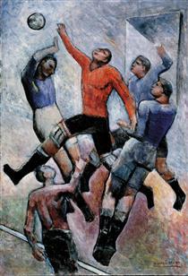 Partita di calcio - Carlo Carra