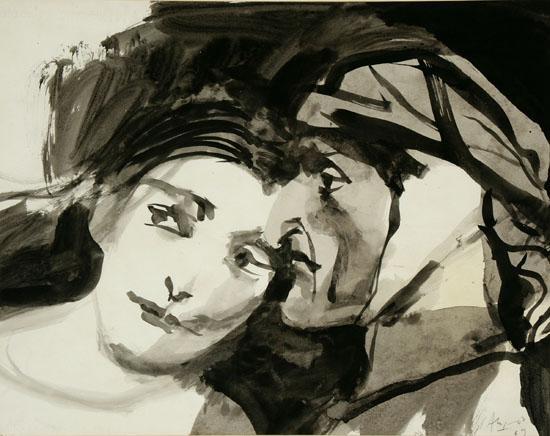 Othello y Desdemona, 1969 - Carlos Alonso