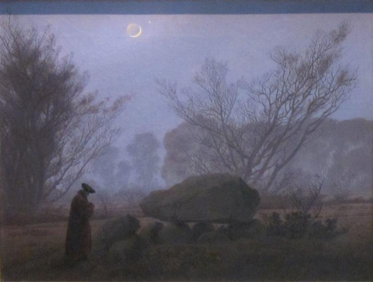 A Walk at Dusk, 1837 - Caspar David Friedrich