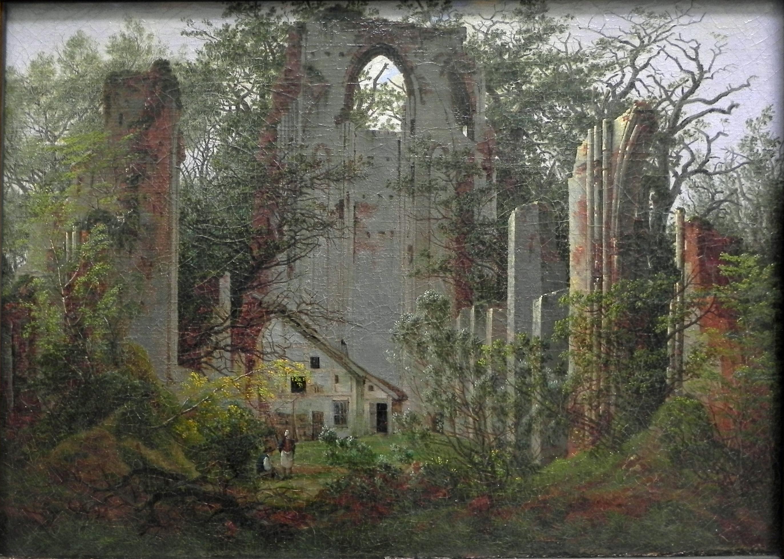 klosterruine eldena bei greifswald 1824 caspar david. Black Bedroom Furniture Sets. Home Design Ideas