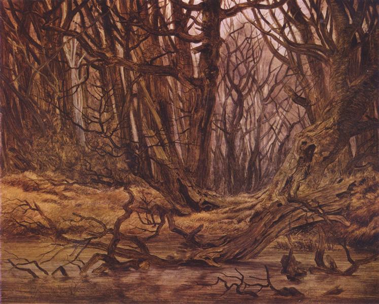 Forrest in the end of the autumn, 1835 - Caspar David Friedrich