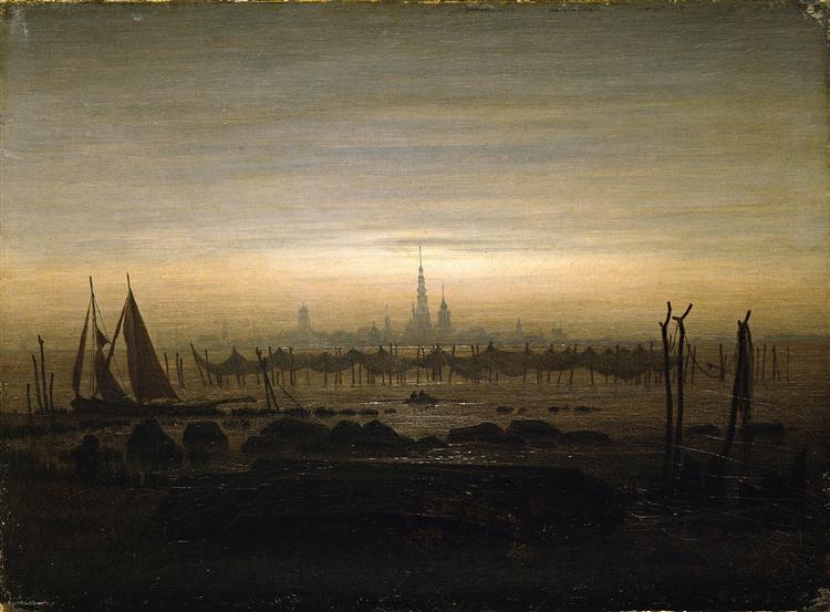 Greifswald in moonlight, 1817 - Caspar David Friedrich
