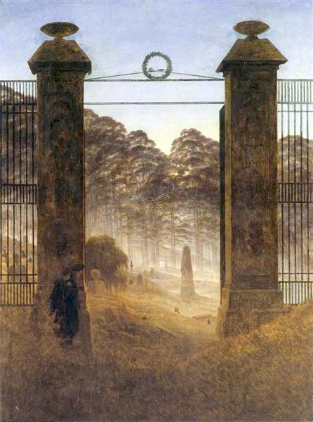 The Cemetery Entrance, 1825 - Caspar David Friedrich
