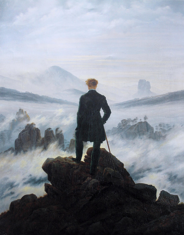 the wanderer above the sea of fog 1818 caspar david friedrich. Black Bedroom Furniture Sets. Home Design Ideas