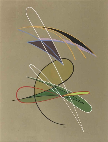Composition, 1955 - Cesar Domela